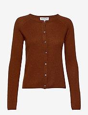 Rosemunde - Wool & cashmere cardigan ls - kashmir - amber brown - 0