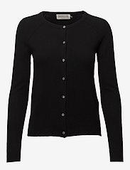 Rosemunde - Wool & cashmere cardigan ls - kashmir - black - 0