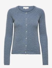 Wool & cashmere cardigan - BLUE MIRAGE MELANGE