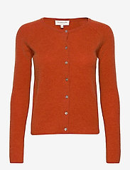 Rosemunde - Wool & cashmere cardigan ls - cardigans - burnt orange melange - 0