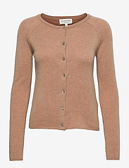 Wool & cashmere cardigan - CAMEL MELANGE