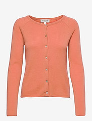 Wool & cashmere cardigan - DARK PEACH
