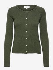 Wool & cashmere cardigan - DARK PINE