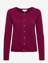 Wool & cashmere cardigan - FUCHSIA ROSE