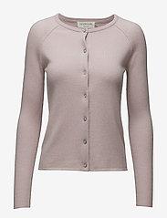 Wool & cashmere cardigan - VINTAGE POWDER