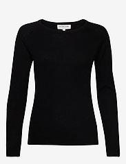 Rosemunde - Wool & cashmere pullover ls - kashmir - black - 0