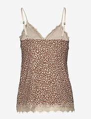 Rosemunde - Strap top - ermeløse bluser - gray morn leopard print - 1