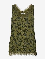 Rosemunde - Top - bluzki bez rękawów - green small leaf print - 0