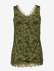 Rosemunde - Top - bluzki bez rękawów - green small leaf print - 1