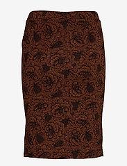 Rosemunde - Skirt - midi - amber brown rose print - 1