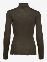 Rosemunde - Silk t-shirt regular ls roller neck - turtlenecks - black green - 1