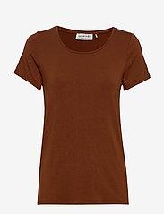 Rosemunde - T-shirt ss - t-shirts - amber brown - 0