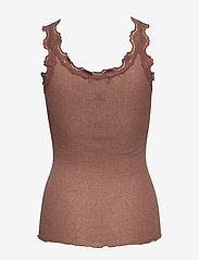 Rosemunde - Silk top regular w/vintage lace & l - tops zonder mouwen - acorn shine - 1