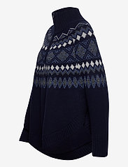 Rosemunde - Poncho - gensere - navy light blue w/ dark shimmer - 2