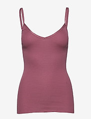 Rosemunde - Silk top w/ elastic band reg, lengt - ermeløse topper - deep rose - 0