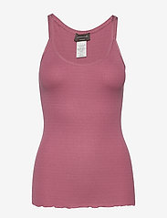 Rosemunde - Silk top regular w/elastic band - sleeveless tops - deep rose - 0