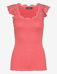 Silk top regular w/wide lace - MINERAL RED