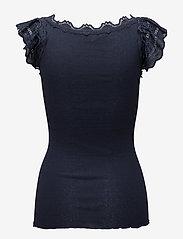 Rosemunde - Silk top regular w/wide lace - blūzes bez piedurknēm - navy - 1