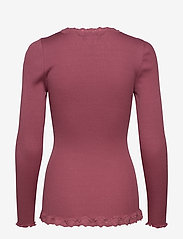 Rosemunde - Silk cardigan regular ls w/rev vint - cardigans - deep rose - 1