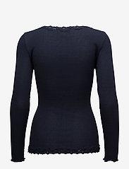 Rosemunde - Silk cardigan regular ls w/rev vint - cardigans - navy - 1