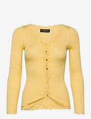 Silk cardigan w/ lace - VANILLA YELLOW