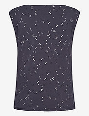 Rosemunde - T-shirt ss - Ærmeløse bluser - blue square print - 1