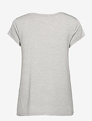 Rosemunde - T-shirt ss - t-shirts - light grey melange - 1
