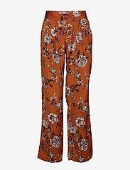 Rosemunde - Trousers - bukser med brede ben - mocha blossom print - 0