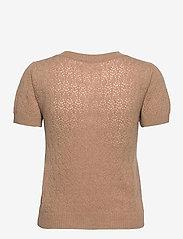 Rosemunde - Wool & cashmere cardigan ss - strikkede toppe - camel melange - 1