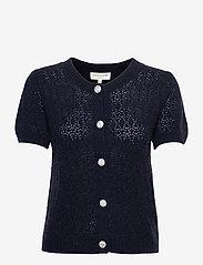 Wool & cashmere cardigan ss - DARK NAVY MELANGE