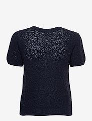 Rosemunde - Wool & cashmere cardigan ss - strikkede toppe - dark navy melange - 1