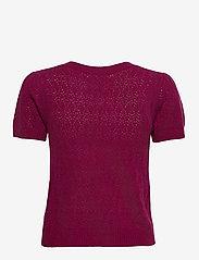 Rosemunde - Wool & cashmere cardigan ss - strikkede toppe - fuchsia rose - 1