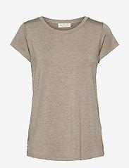 T-shirt ss - BROWN MELANGE