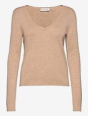 Rosemunde - Pullover ls - tröjor - beige melange - 0