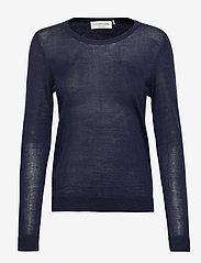 Rosemunde - Merino pullover ls - truien - navy - 0
