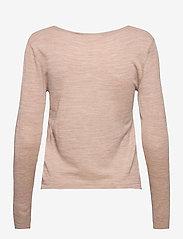 Rosemunde - Merino pullover ls - tröjor - beige melange - 1