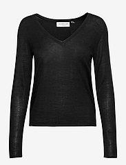 Rosemunde - Merino pullover ls - tröjor - black - 0