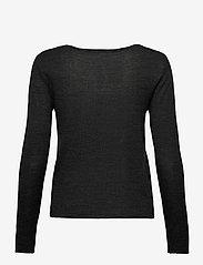 Rosemunde - Merino pullover ls - tröjor - dark grey melange - 1