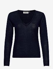 Rosemunde - Merino pullover ls - tröjor - navy - 0