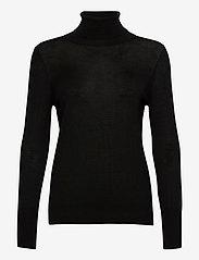 Rosemunde - Pullover ls - turtlenecks - black - 0