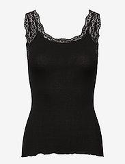 Rosemunde - Silk top w/lace - blouses zonder mouwen - black - 0