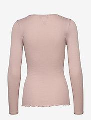 Rosemunde - Silk t-shirt w/ elastic band - långärmade toppar - vintage powder - 1