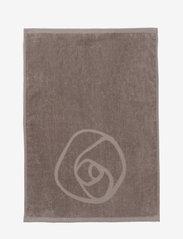 Rosemunde - towel 45x65cm - hand towels & bath towels - dusty brown - 1