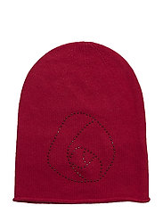 Hat w/rose - RASPBERRY RED