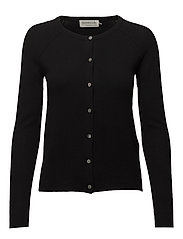 Wool & cashmere cardigan ls - BLACK
