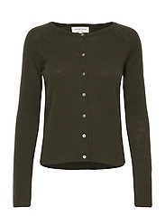 Wool & cashmere cardigan ls - BLACK GREEN