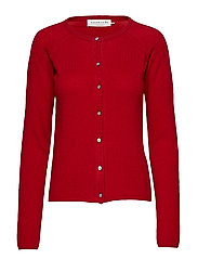Cardigan ls - DEEP RED