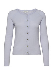 Wool & cashmere cardigan ls - HEATHER SKY