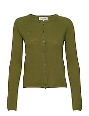 Wool & cashmere cardigan ls - LEAF GREEN