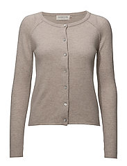 Cardigan ls - LIGHT SAND  MELANGE